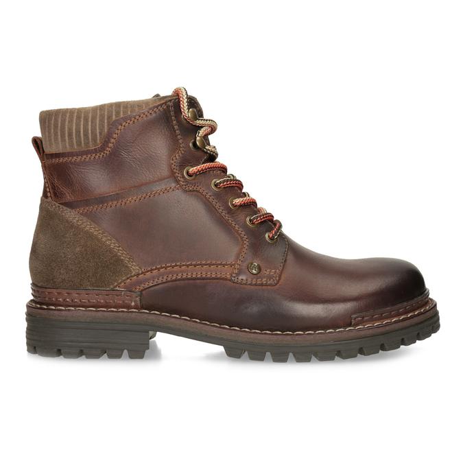 Skórzane buty zimowe za kostkę bata, brązowy, 896-4661 - 19