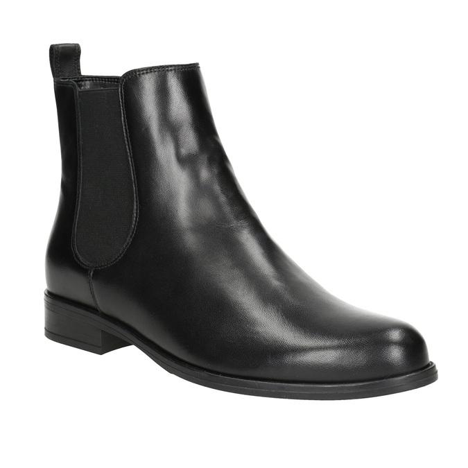 Skórzane obuwie damskie typu chelsea bata, czarny, 594-6661 - 13