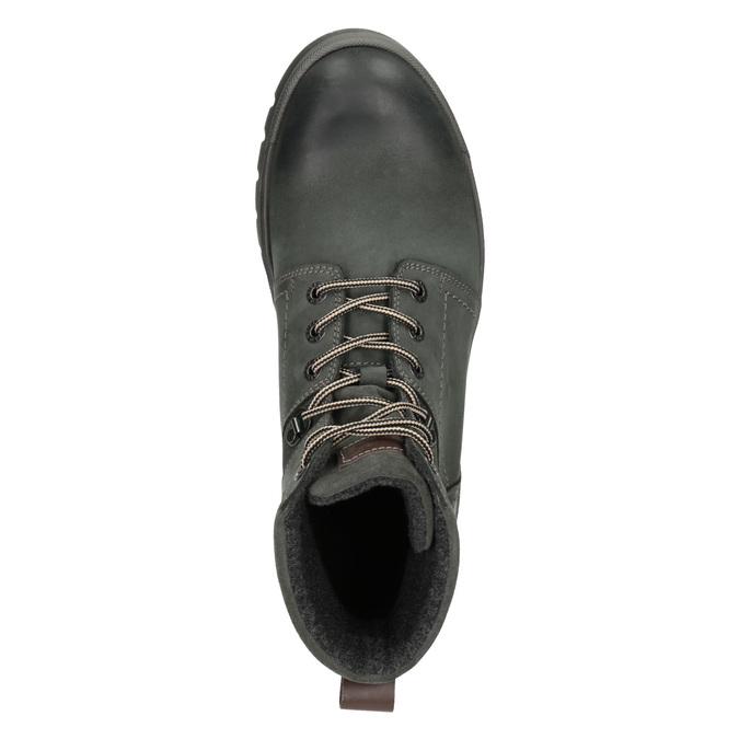 Skórzane obuwie za kostkę weinbrenner, szary, 896-2703 - 15