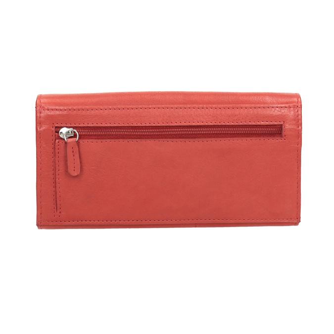Czerwony skórzany portfel damski bata, czerwony, 944-3203 - 16