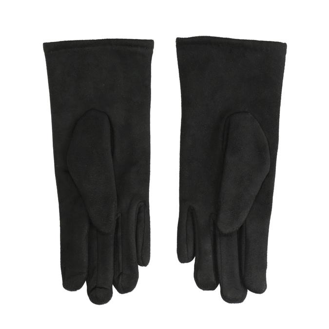 Rękawiczki damskie zmateriału tekstylnego bata, czarny, 909-6612 - 16