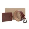 Skórzany pasek iportfel wzestawie upominkowym bata, brązowy, 954-3201 - 13