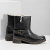 Damskie buty z futerkiem bata, czarny, 594-6609 - 16