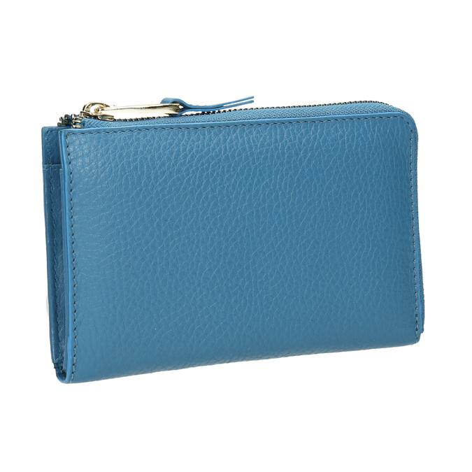 Niebieski portfel ze skóry bata, niebieski, 946-9284 - 13
