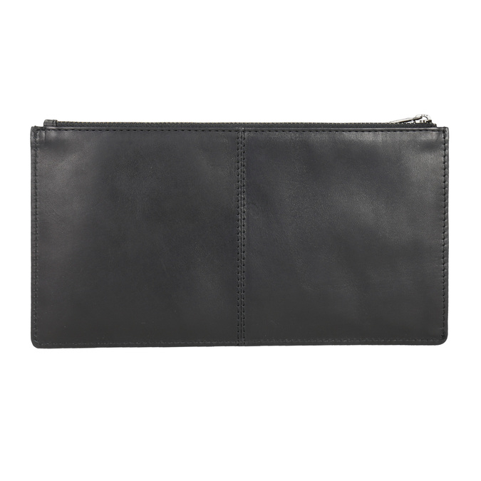 Czarna skórzana kopertówka bata, czarny, 966-6285 - 15