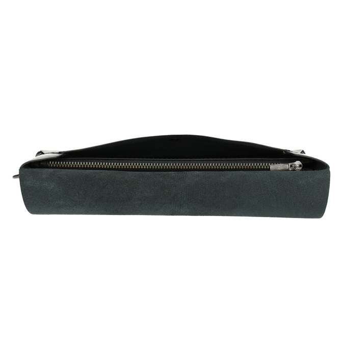 Czarna skórzana kopertówka bata, czarny, 966-6285 - 17