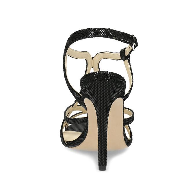 Wyjściowe sandały damskie bata, czarny, 726-6648 - 15