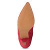 Czerwone skórzane kozaki wszpic bata, czerwony, 793-5612 - 18