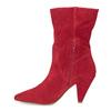 Czerwone skórzane kozaki wszpic bata, czerwony, 793-5612 - 17