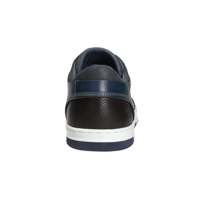 Granatowe skórzane trampki bata, niebieski, 846-9927 - 16