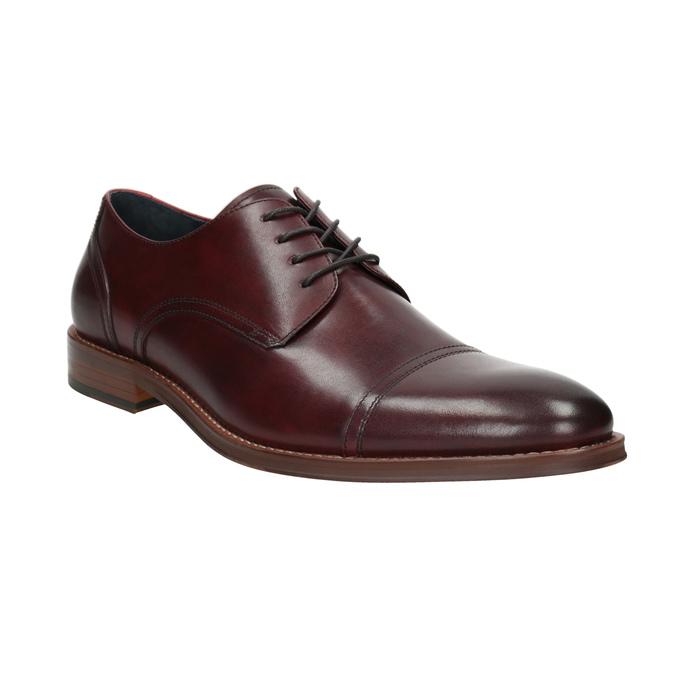 76b0b5d0f6dbd Skórzane bordowe półbuty męskie bata, czerwony, 826-5812 - 13