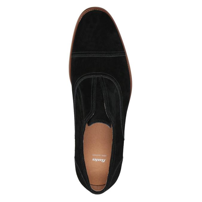 Zamszowe półbuty typu oksfordy bata, czarny, 823-6618 - 15