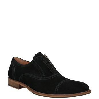 Zamszowe półbuty typu oksfordy bata, czarny, 823-6618 - 13