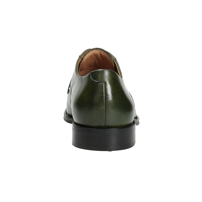 Zielone półbuty męskie ze skóry bata, zielony, 826-7857 - 16
