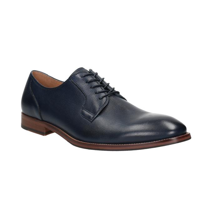 Granatowe skórzane półbuty bata, niebieski, 826-9997 - 13
