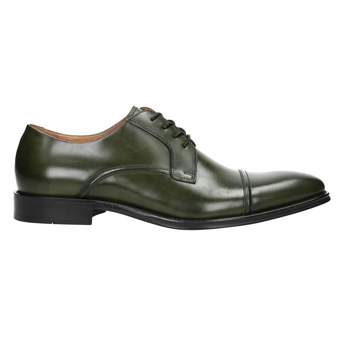 Zielone półbuty męskie ze skóry bata, zielony, 826-7857 - 26