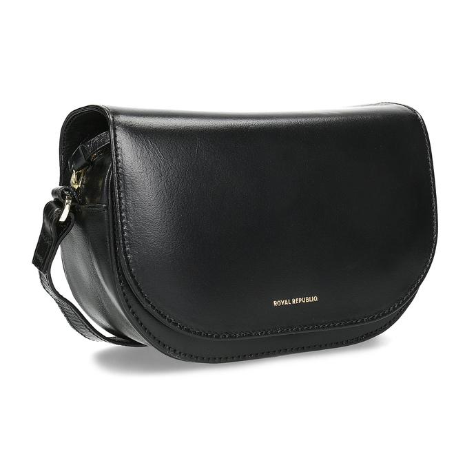Skórzana torebka zklapą royal-republiq, czarny, 964-6084 - 13