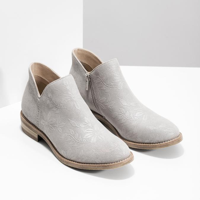 Botki damskie bata, szary, 596-2685 - 26