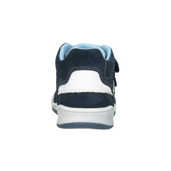 Skórzane botki dziecięce bubblegummer, niebieski, 113-9603 - 16