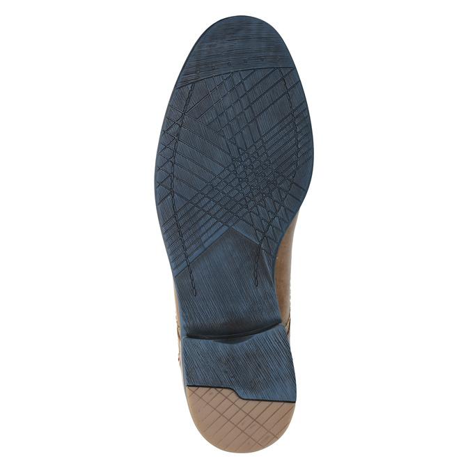 Skórzane półbuty zkolorowymi sznurówkami bata, brązowy, 826-4928 - 17