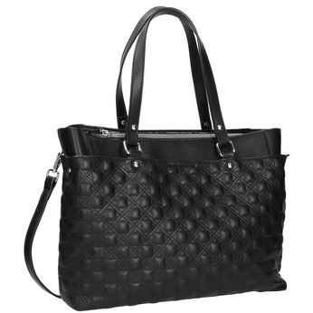 Pikowana torebka bata, czarny, 961-6824 - 13