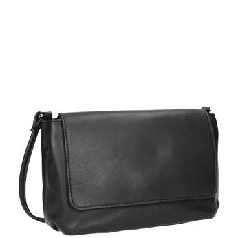 Skórzana torebka damska typu crossbody bata, czarny, 964-6291 - 13