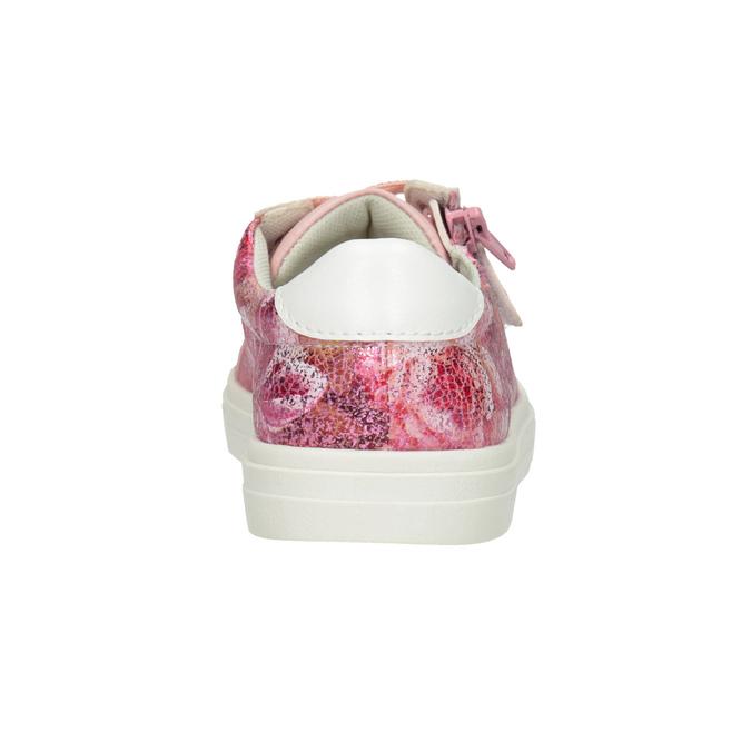 Różowe trampki dziewczęce zzamkami błyskawicznymi mini-b, 321-5219 - 16
