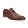 Skórzane półbuty męskie zfakturą bata, brązowy, 826-3825 - 13