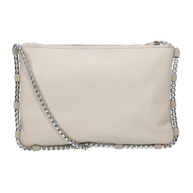 Skórzana torebka damska typu crossbody bata, biały, 963-1193 - 16