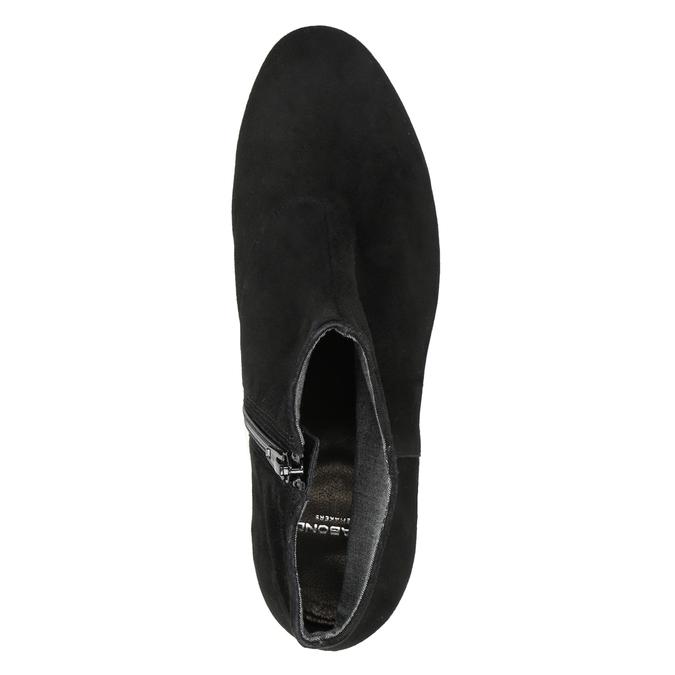 Zamszowe botki vagabond, czarny, 613-6040 - 15