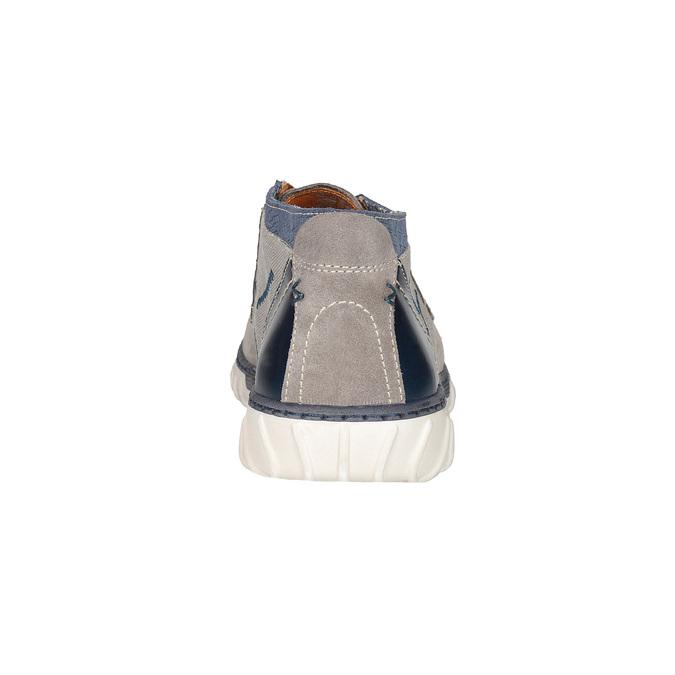Męskie buty za kostkę bata, szary, 843-2633 - 15
