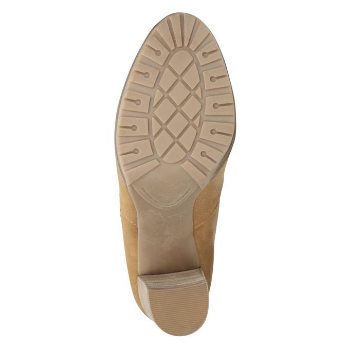 Brązowe botki damskie na obcasach bata, brązowy, 791-3615 - 17