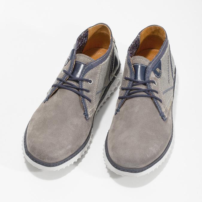 Męskie buty za kostkę bata, szary, 843-2633 - 16