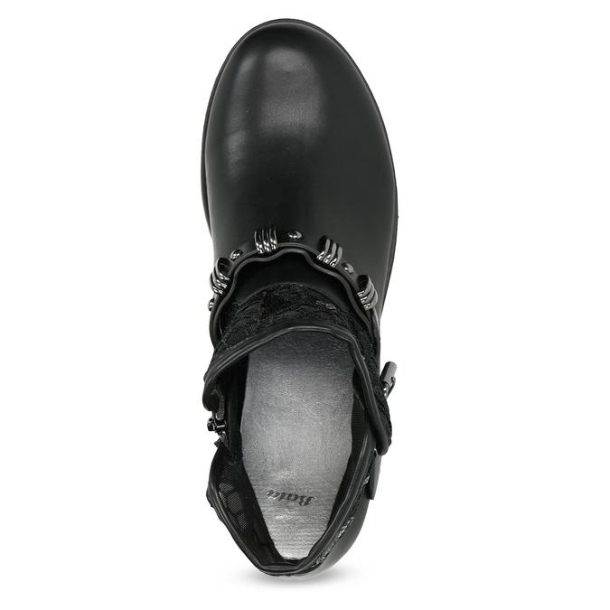 Czarne kozaki zkoronką bata, czarny, 591-6628 - 17