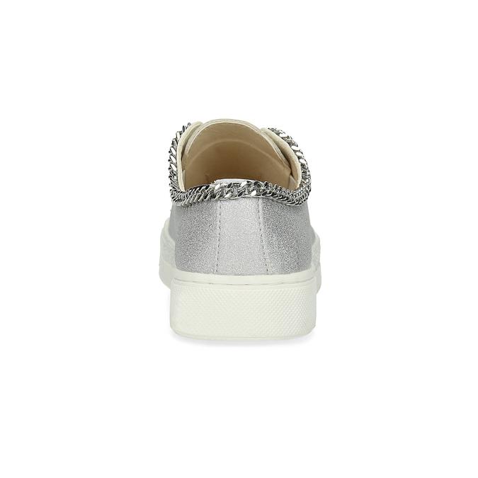 Srebrne trampki dziewczęce złańcuszkiem mini-b, srebrny, 321-2307 - 15