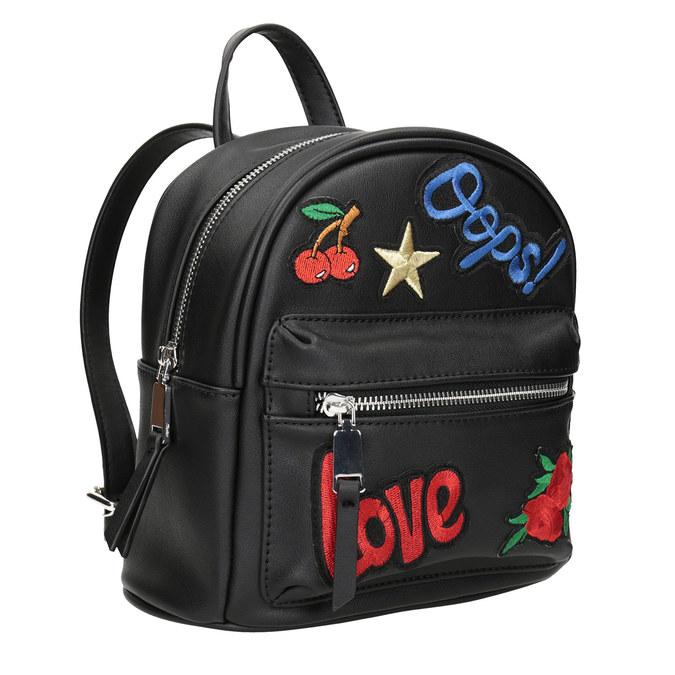 Czarny plecak zaplikacjami bata, czarny, 961-6264 - 13