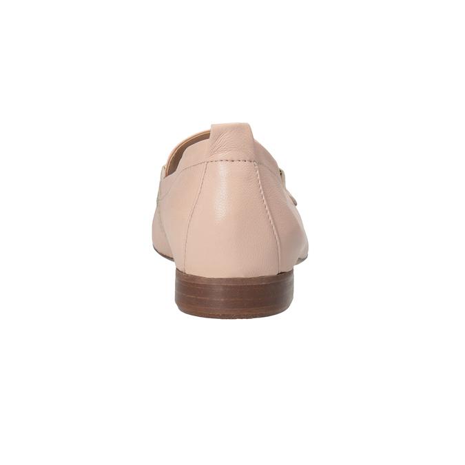Różowe skórzane mokasyny damskie bata, 516-5619 - 15