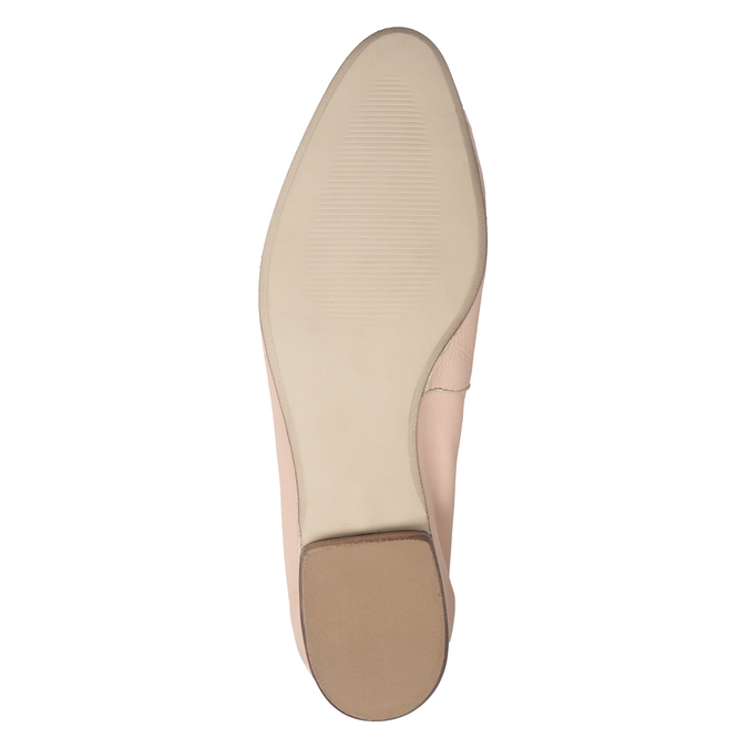 Różowe skórzane mokasyny damskie bata, 516-5619 - 19