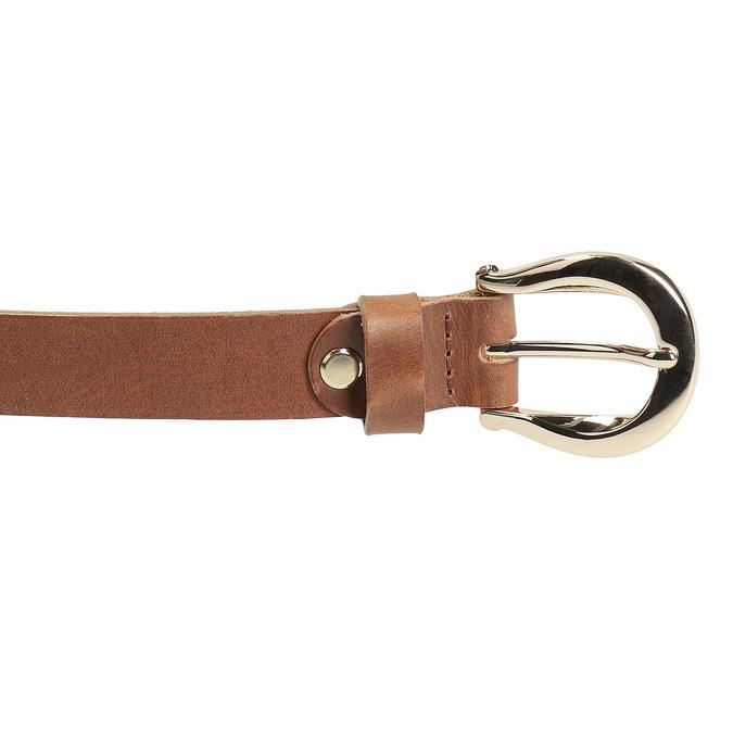 Brązowy skórzany pasek damski bata, brązowy, 954-3202 - 26