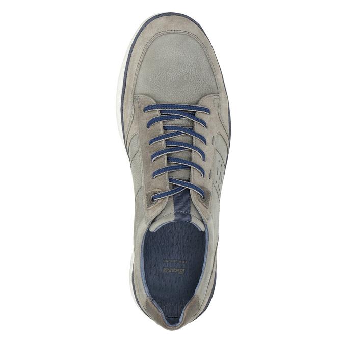 Skórzane trampki męskie bata, szary, 846-2639 - 17