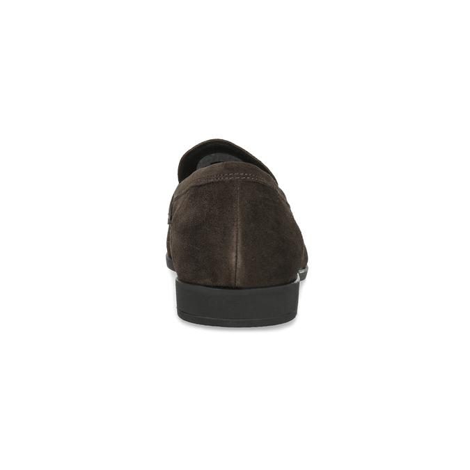 Skórzane mokasyny wstylu penny loafersów vagabond, brązowy, 813-4053 - 15