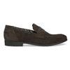 Skórzane mokasyny wstylu penny loafersów vagabond, brązowy, 813-4053 - 19