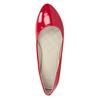 Czerwone lakierowane baleriny bata, czerwony, 521-0602 - 15