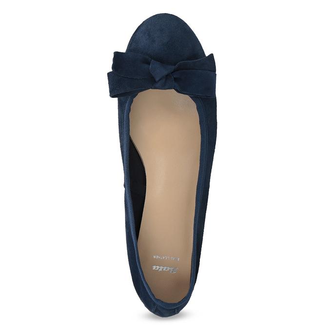 Niebieskie zamszowe baleriny bata, niebieski, 523-9420 - 17