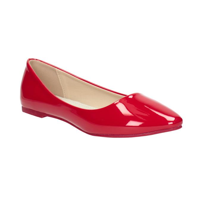 Czerwone lakierowane baleriny bata, czerwony, 521-0602 - 13