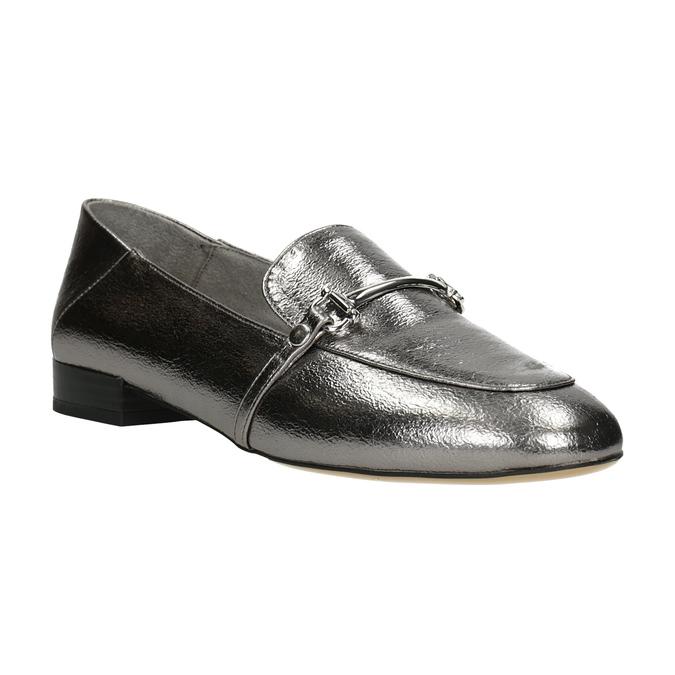 Srebrne mokasyny zwędzidłami bata, srebrny, 511-1609 - 13