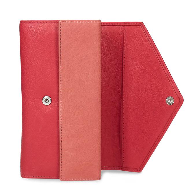 Skórzany portfel damski bata, czerwony, 944-5211 - 15
