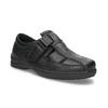 Skórzane sandały męskie pinosos, czarny, 864-6626 - 13