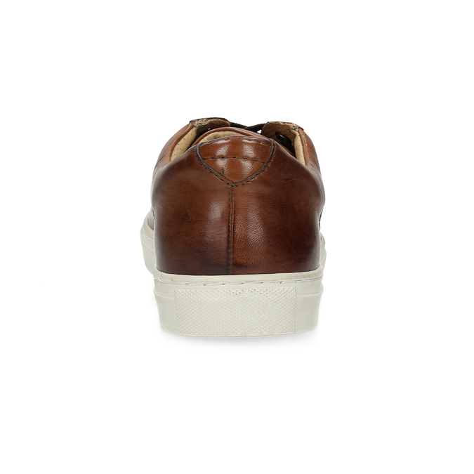 Skórzane trampki męskie bata, brązowy, 846-4648 - 15
