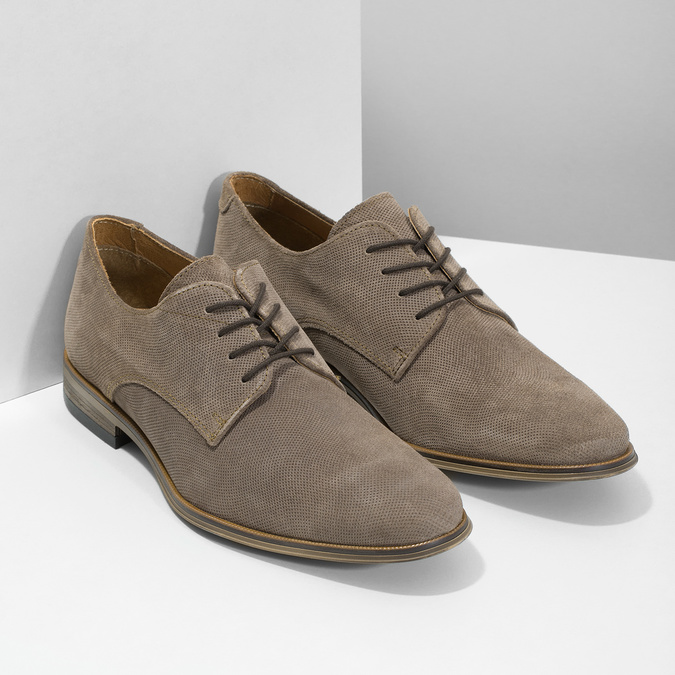 Angielki męskie zperforacją bata, brązowy, 823-8616 - 26